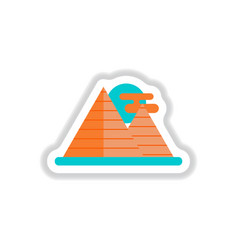 In paper sticker style egypt vector