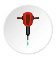 jackhammer icon flat style vector image