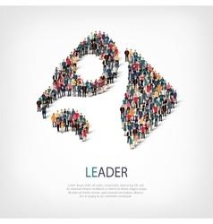 leader people symbol vector image