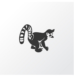lemur icon symbol premium quality isolated vector image