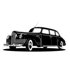 limousine silhouette vector image