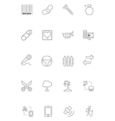 Line icons 21 vector