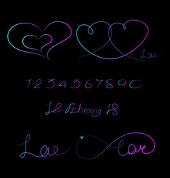Lined pattern love infinity valentine day vector