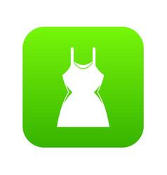 little dress icon digital green vector image