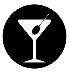 Martini glass button vector image