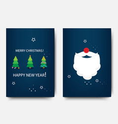 merry christmas template set with holiday xmas vector image