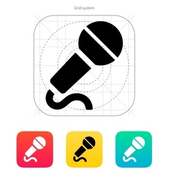 Microphone with cable icon vector