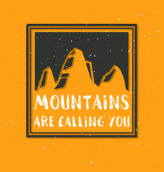 Mountain with texture sketch vector