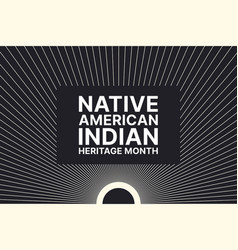 native american indian heritage month - november vector image