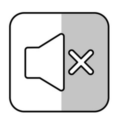 No sound icon vector