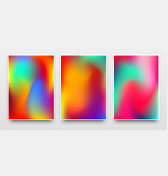 posters mock-up with vibrant color gradient vector image