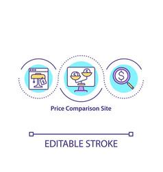 price comparison site concept icon vector image