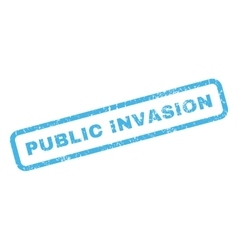 Public Invasion Rubber Stamp vector