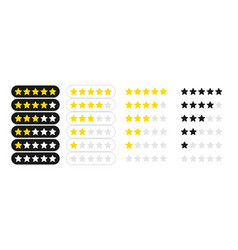 rating stars badges feedback or rating rank level vector image