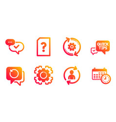 Recovery data seo gear and cogwheel icons set vector