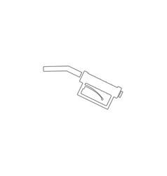 refueling gun flat icon vector image