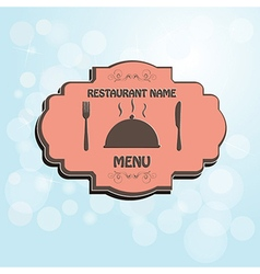restaurant menu label brochure design element with vector image