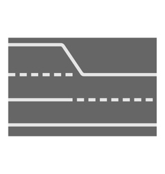 Road element top view icon cartoon style vector