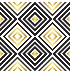 Seamless black and gold pattern vector image