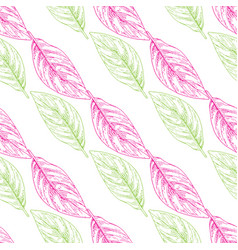 Seamless pattern with colored outline vector