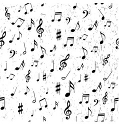 seamless pattern with piano notes on white vector image