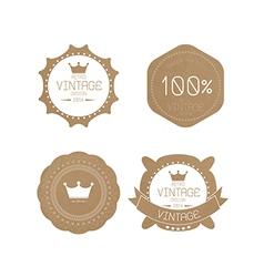 set grunge paper texture retro vintage badges vector image