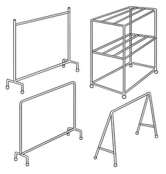 set of cloth rack vector image