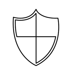 shield protection isolated icon design vector image