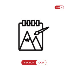 sketchbook icon vector image