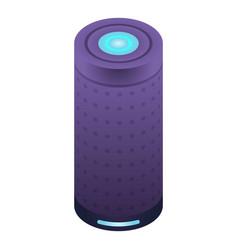 Smart speaker tube icon isometric style vector