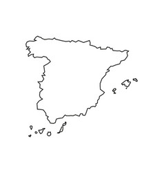 Spain map on white background outline vector