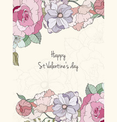 st valentine s day card vector image