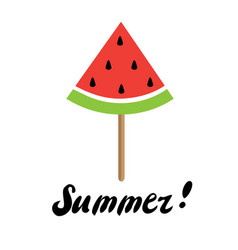 Summer time watermelon vector