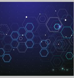 technology and science background vector image