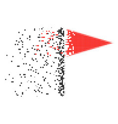 Triangle flag dissolved pixel icon vector