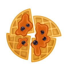 Triangle shaped waffles with textured surface and vector