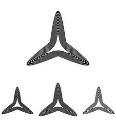 Triangle star logo design set vector