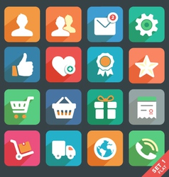 Universal Flat icons set for Web and Mobile App vector