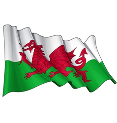 Wales Flag vector image