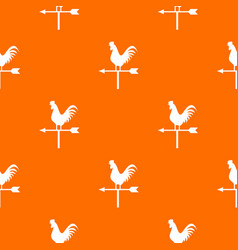 Weather vane with cock pattern seamless vector