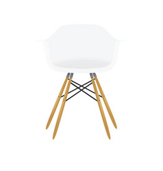 White home chair vector