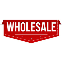 Wholesale banner design vector
