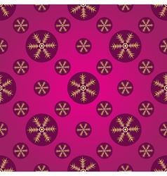 Winter pink and purple seamless pattern vector image
