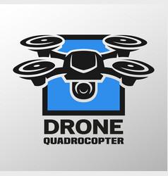 drone quadrocopter logo vector image