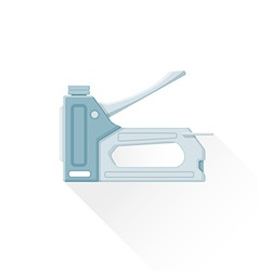 flat metal staple gun icon vector image vector image