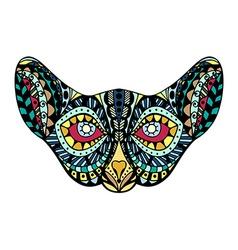 stylized cat head vector image