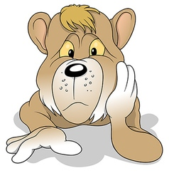 Thoughtful Bear vector image vector image
