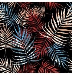 Tropical palm tree foliage vector image