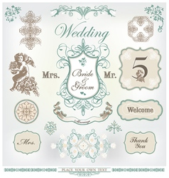 wedding decoration set vector image vector image