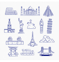ballpoint drawing international country linear vector image